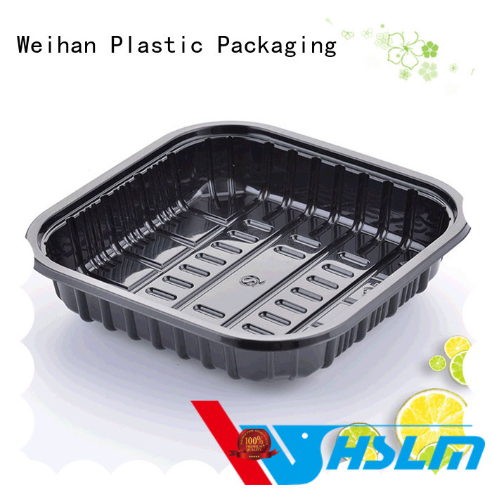 Weihan fresh black plastic catering trays with lids for business for fresh food