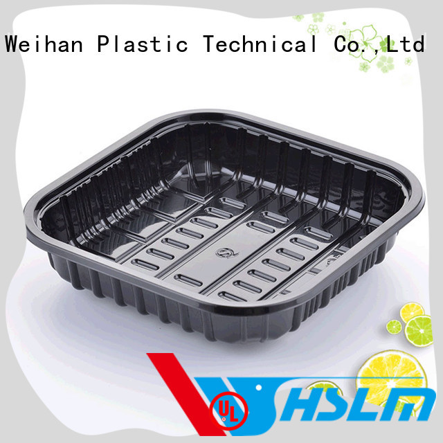 Weihan 250g black plastic food trays company for fresh food