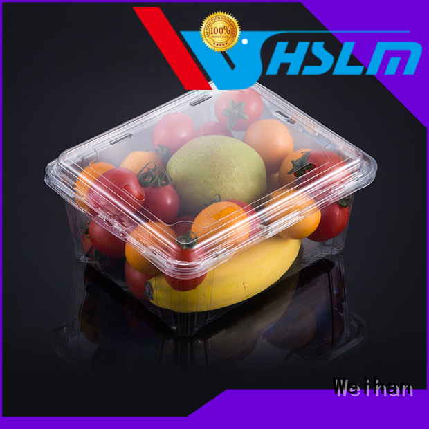 Weihan 1000g clear plastic fruit box company for fresh food