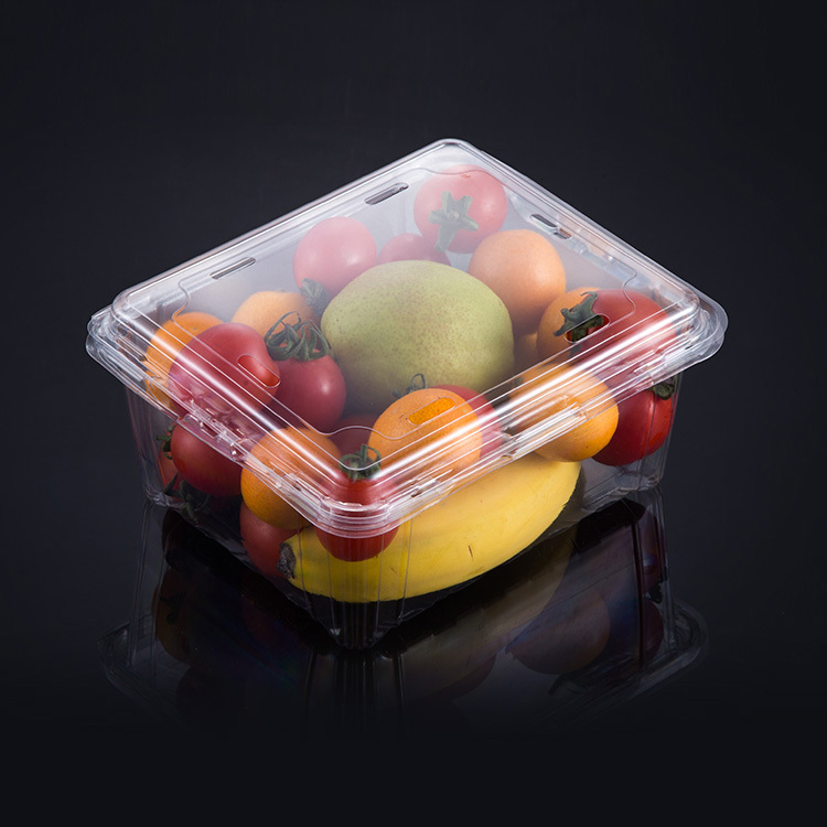 500g Strawberry fruit transparent packaging box