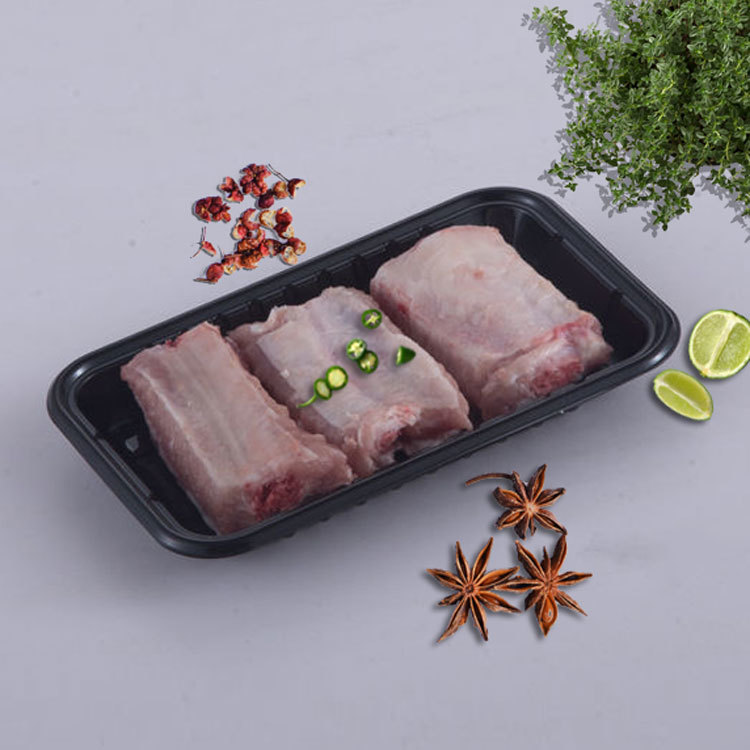 WH-117 large supermarket meat black fresh tray