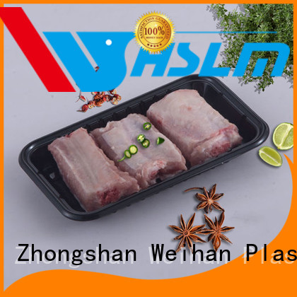 Weihan Custom black plastic catering trays manufacturers for vegetable