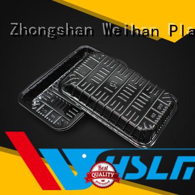 Weihan Custom black plastic serving tray company for fresh food