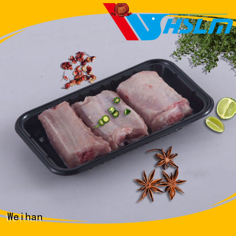 Weihan preservation black plastic catering trays factory for fruit