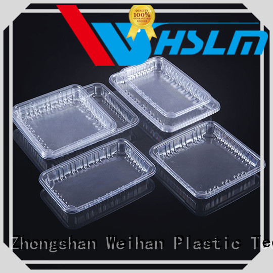 Weihan wrapped clear plastic tray Supply for supermarket
