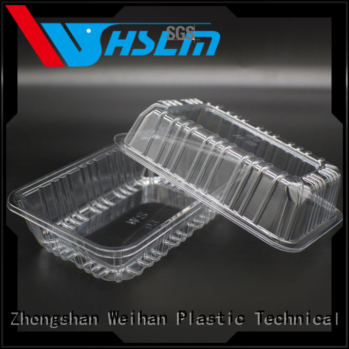 Weihan fruits plastic take out food containers manufacturers for meat