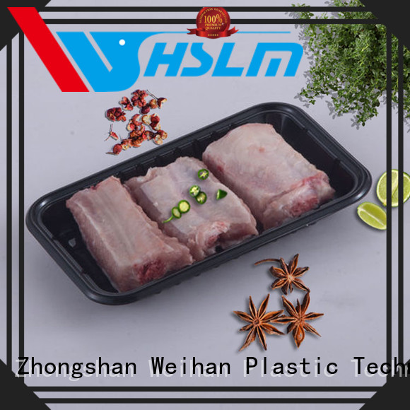 Weihan meat black plastic catering trays Supply for fruit