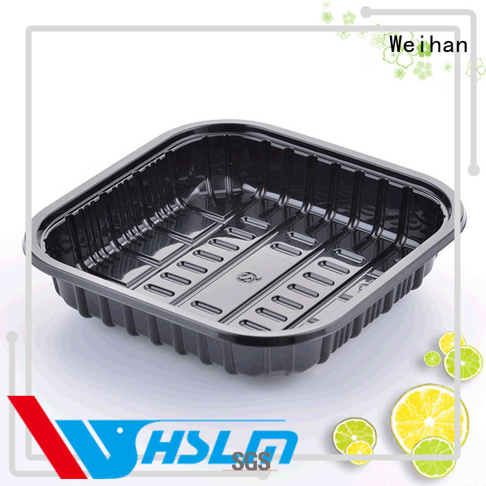 Weihan New black plastic food trays Suppliers for fruit