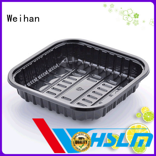Best black plastic food trays meat factory for vegetable