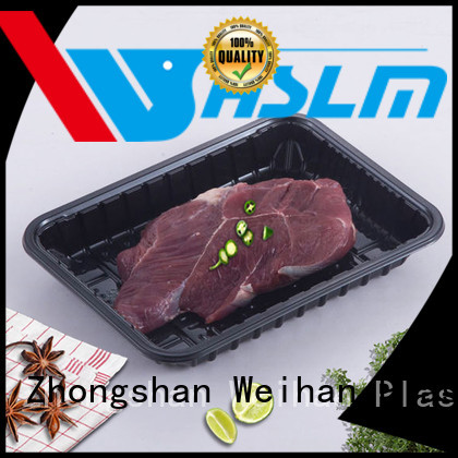 Weihan shellfish black plastic tray Suppliers for meat