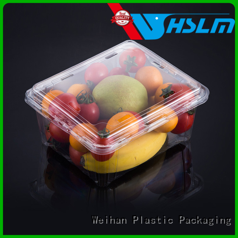Weihan box Clear Fruit Box manufacturers for supermarket
