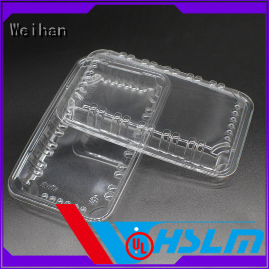 Weihan Top large clear plastic tray for business for supermarket