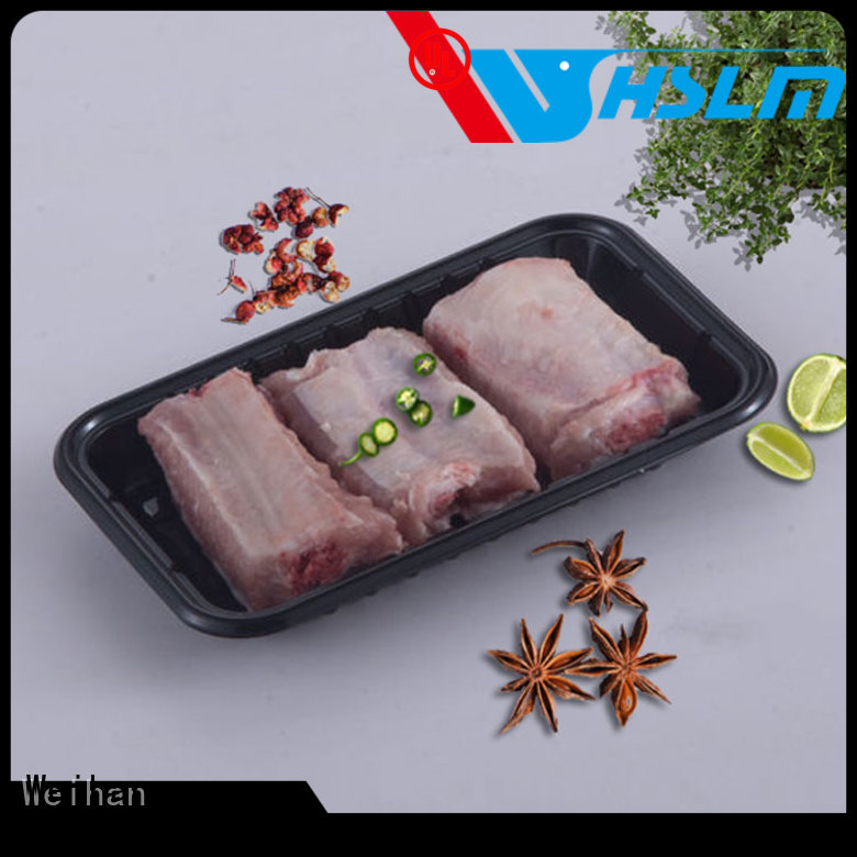Weihan Top black plastic tray for business for fruit