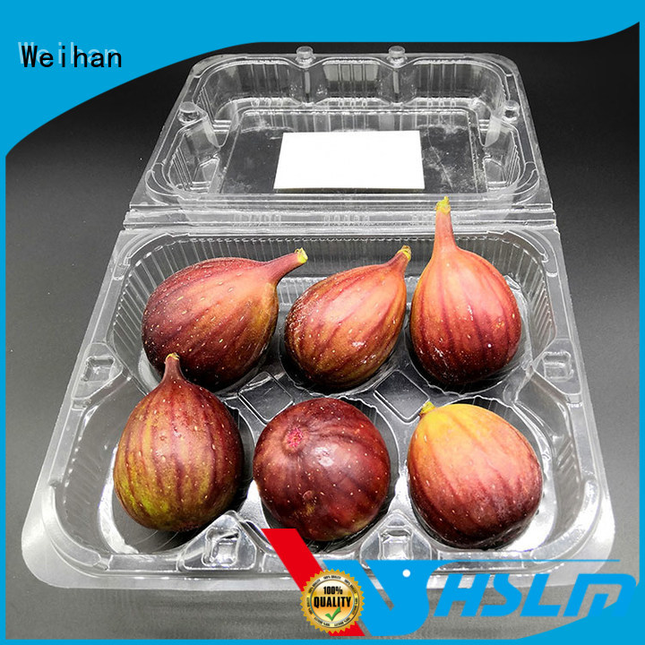 Weihan transparent Clear Fruit Box Supply for supermarket