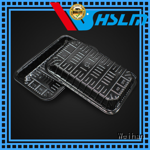Top black plastic food trays wh115 Suppliers for meat