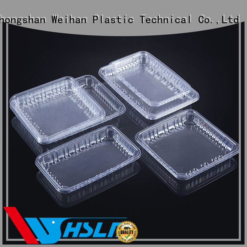 Weihan wh200 clear plastic tray factory for fruit