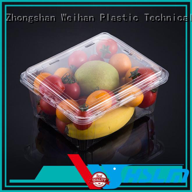 Custom plastic box for fruit packs factory for supermarket