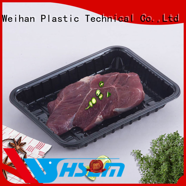 Latest black plastic serving tray wh128 manufacturers for fresh food