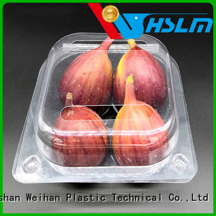 Weihan New clear plastic fruit box Suppliers for supermarket