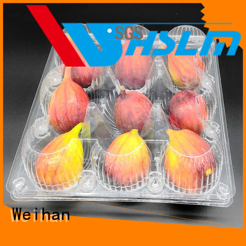 Weihan clear plastic box for fruit Supply for supermarket