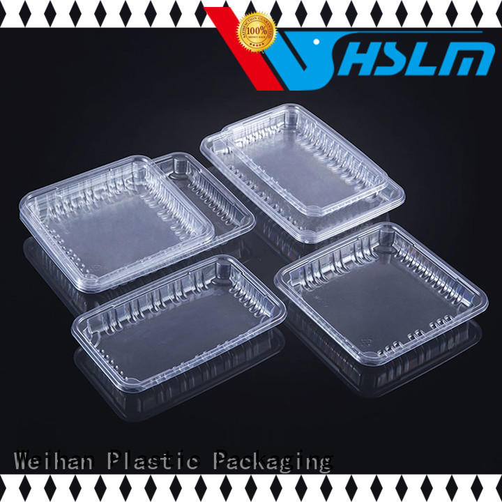 Weihan transparent plastic food trays with lids factory for fresh food