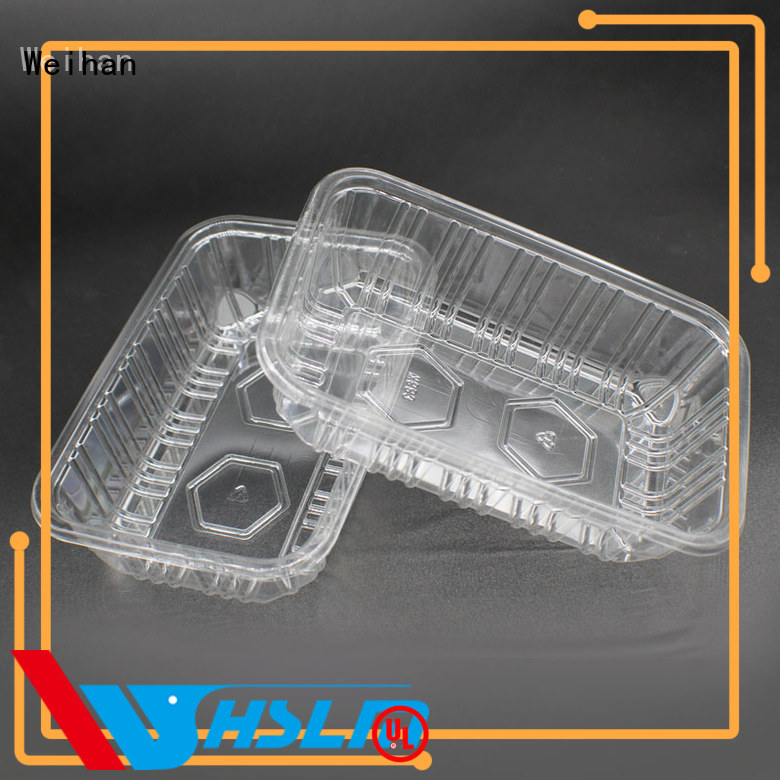 Weihan vegetables clear trays for food manufacturers for fruit