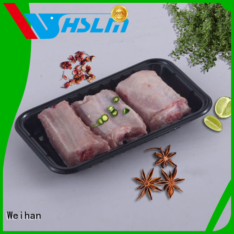 Custom black catering trays preservation manufacturers for meat