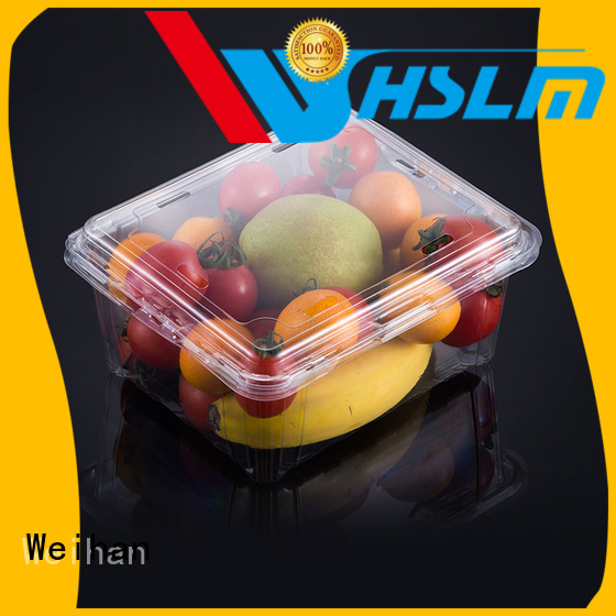 Weihan transparent Clear Fruit Box Supply for fresh food