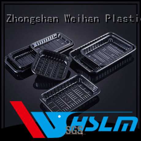 Weihan packing clear plastic food tray company for meat