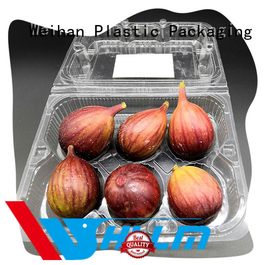 Weihan package clear plastic fruit box factory for supermarket
