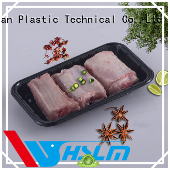 Weihan wh128 black plastic food trays factory for fruit
