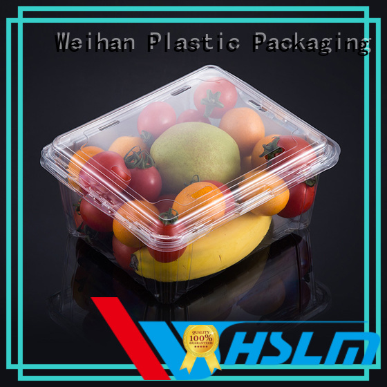 Weihan packaging plastic box for fruit Supply for vegetable